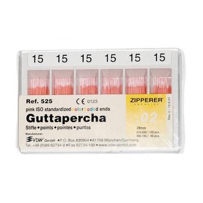 Punte di Guttapercha Zipperer 120pz VDW